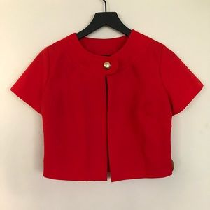 Tops - Vintage single button top in red